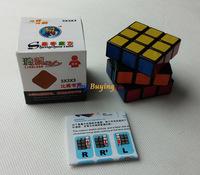 20pcs/lot 4.6cm shengshou ss linglong 3x3 speed cube Twist Puzzle Educational Toys+Free Shipping