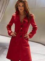 Long women's major suit Cape coat turndown collar woolen overcoat wool garment backhind button Adjustable Waist Lage Size XS-XXL