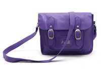 free shipping women messenger bags fashion satchel girls cross body bags lavender color purple soft PU shoulder bag top sale