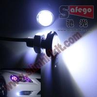 2pcs Reversing Backup Rear eagle eye Lamp White drl eagle eye 10w LED Lens eye Ultra-thin car led Eagle Eye led light