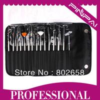 Professional 15pcs Acrylic Nail Art Brush For Painting , Dotting And UV Gel Builder Nail Brush Wholesale
