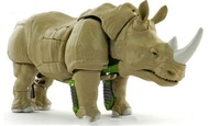 Free shipping Rhino Warriors changeable animal robot action figures toys for boys top famous brand birthday gift with box