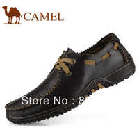 new 2014 Casual leather the trend of fashion plus size skateboarding breathable small 36 soft outsole 47 46 male flats shoes