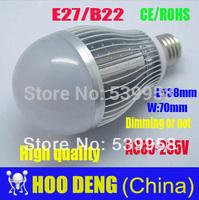 HOT SALE E27 B22 1pcs/lot  LED Bulb Lamp 20w AC85-220V  Dimmable or no Cold white/warm white Cree Led free shipping