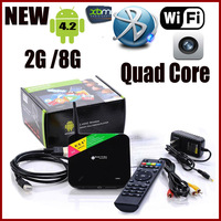 Android 4.2.2 Quad Core TV Box, CS968,Web Cam, Mic,RK3188,2G RAM, 8G ROM, WiFi,Remote Control  Smart tv box, Free Shipping