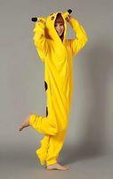 Free Shipping Animal Romper Mens Ladies Fleece Suits Onsie Fancy Dress Costume Onesie Pajamas *Pikachu