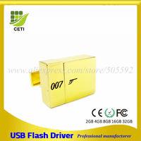James Bond 007 Cufflinks usb metal fancy usb pen drive top memory usb drive
