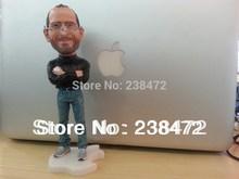 2014 New!!! Wholesale Steve Jobs 18cm resin material  Steve Jobs figure doll  Artificial Sculpture Souvenir Toys+Free shipping(China (Mainland))
