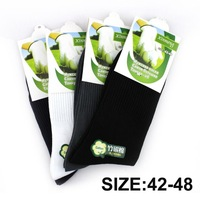 Big size 22Pcs=12pairs/lot Bamboo fiber Men's sock high quality male long socks classic Brand Men's Socks free shipping