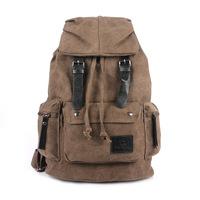 2014 New Fashion Unisex Men Women Vintage Canvas Backpack Back Pack Rucksack School Bag Satchel Hiking Camping Bag 6 colors