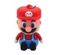 Cartoon Super Mario USB Flash Drive Memory Stick Storage Devices Silicone Designer USB Gadget Gift Cheap Sale