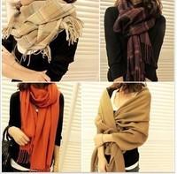 colors optional winter explosion models monochrome couple models fringed scarves scarves scarves unisex plaid scarves