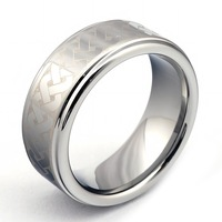 Wholesale 2013 New Arrival Hot Sell High Fashion Tungsten Carbide Ring men's Jewelry Laser Pattern Rings TRL-052 Wholesale