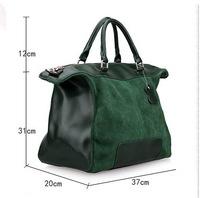 2013 fashionable casual genuine leather cowhide wool cowhide comfortable women's handbag 0270