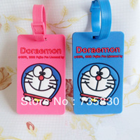 Cute Cartoon DORAEMON Pink Panther Robot luggage tag bus ID credit card holder travel accessories Customized birthday kids gift