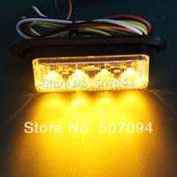 4 X LED warning light 4X3W police car led 12V 24V strobe light