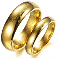 "2013 Fashion Ring The Lord of the Rings 18K gold plated ring for men women,""the one ring"" hobbit Ring Tungsten for youngster"
