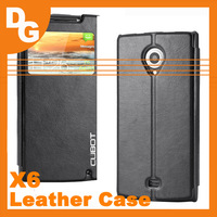 Hot Sale Original High Quality Flip leather Case For Cubot X6 MTK6592 Octa Core 1.7GHz Mobile Phone