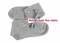 Free shipping silver conductive fiber TENS/EMS socks for electrotherapy/feet conductive tens socks TENS machine