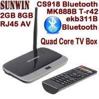 Original Q7 MK888B CS918 Quad Core Andriod TV Box RK3188 2GB 8GB MINI PC WIFI RJ45 AV XBMC Preinstalled Smart TV