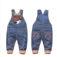 boys autumn child denim bib pants 0-3 years old overalls children bib pants baby long trousers free shipping