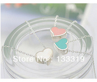 The Jewelry Factory wholesale fashion Love sweet peach heart necklace 3 colors Min.order is $10(mix order)free shipping