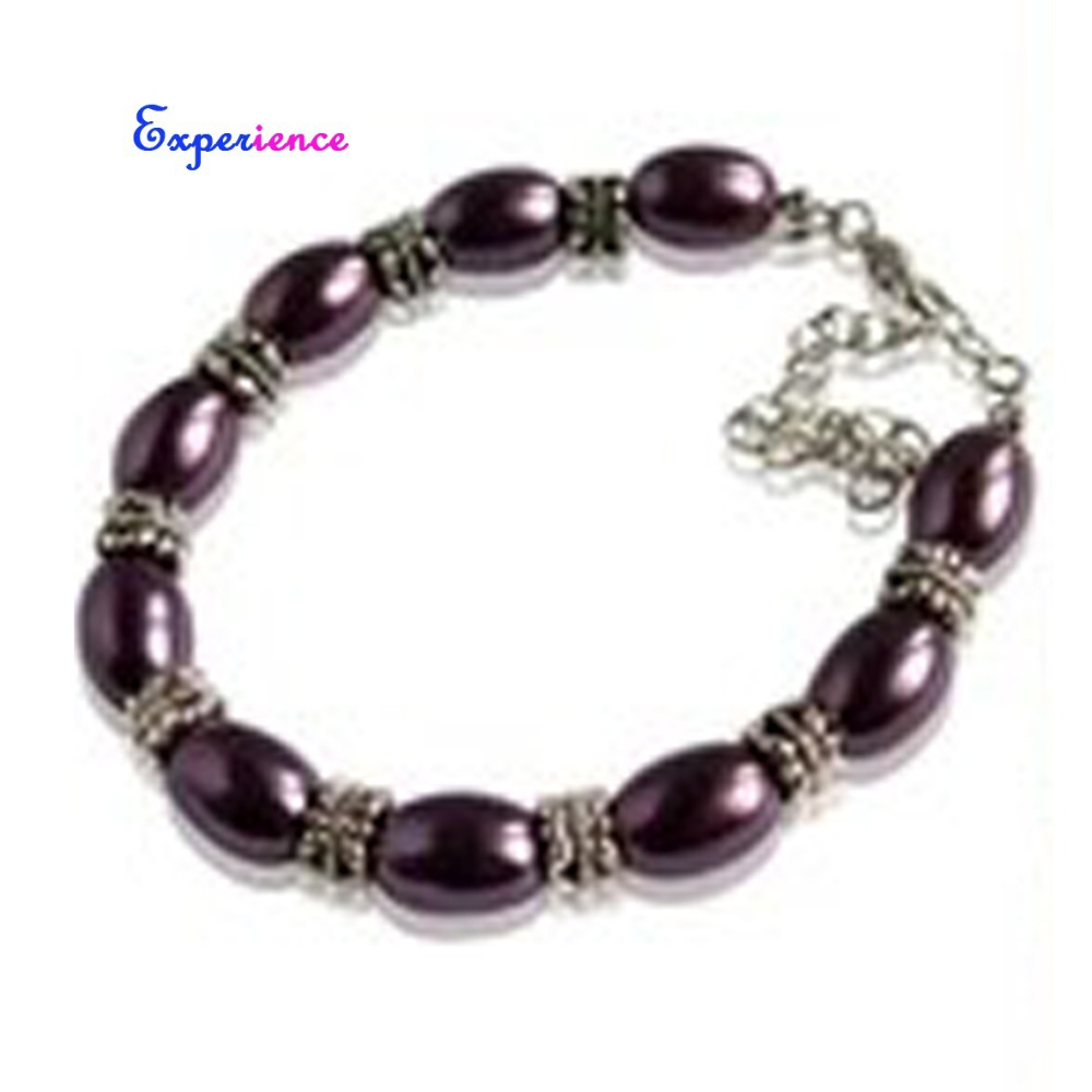 Experience romantic purple pearl necklace bracelet set C054(China (Mainland))