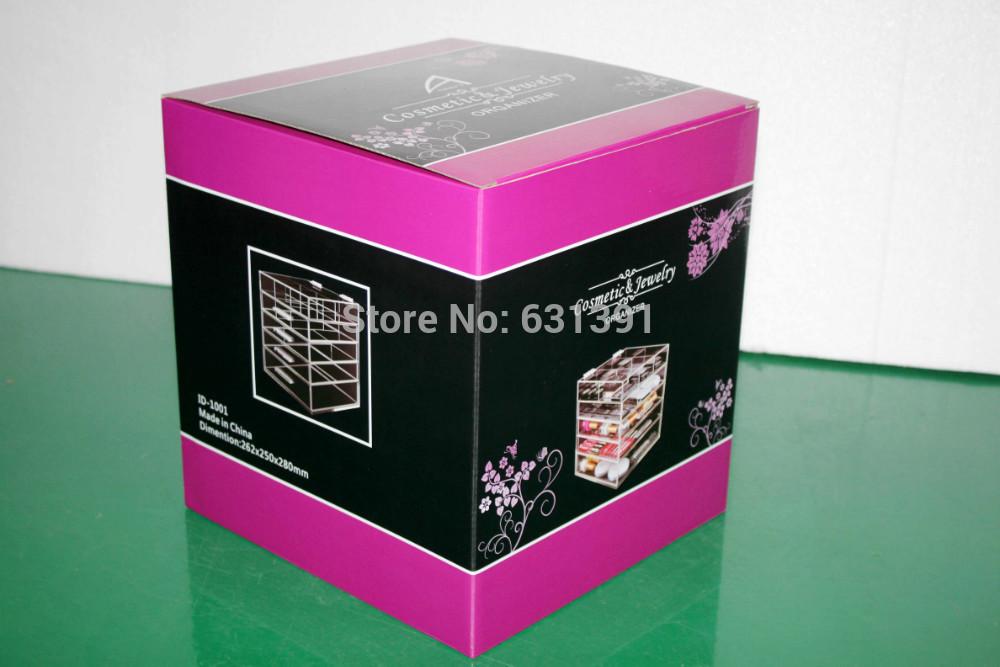 5 Gaveta de alta qualidade de acrílico transparente cosméticos organizador com 5 gavetas(China (Mainland))