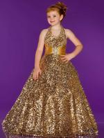 free shipping gold flower girl dresses for weddings 2013 first communion dress little girl christmas pageant dresses for girls