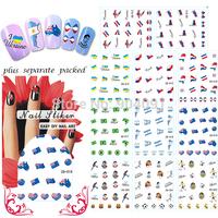 50Sheet/LOT Flag/Foot World Cup/Messi/Cristiano Ronaldo/Kaka Tattoo nail art decorations for nail decals+individually packaging