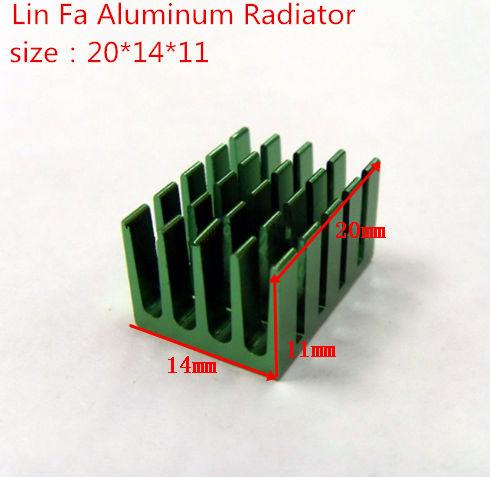 Free Shipping 50 pcs heat sink/Chip radiator-fan power supply radiator electronic/20*14*11/cpu heatsink dedicated(China (Mainland))