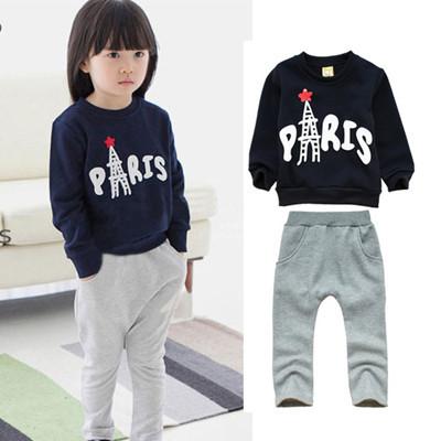 Kids Girls Clothing Sets frozen peppa pig children's suit T shirt + pants Jeans 2pcs autumn girls sweater suit Mickey sports(China (Mainland))