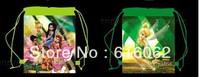 Free shipping 1pcs/LOT  tinkerbell Cartoon Drawstring Backpack Bag ,Children Kids Bag 34X27CM,schoobag,party gift-po221