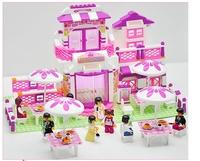 Sluban M38-B0150 child set blocks diy kids girl toys children unique girl pink  toy block sets educational special play brick