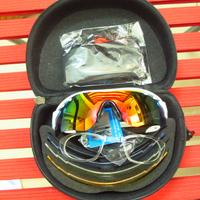 2014 New Men Cycling Eyewear Sunglass Outdoor Cycling Glasses Bicycle Bike UV400 Sports Sun Glasses 5 Lenses original Box Free