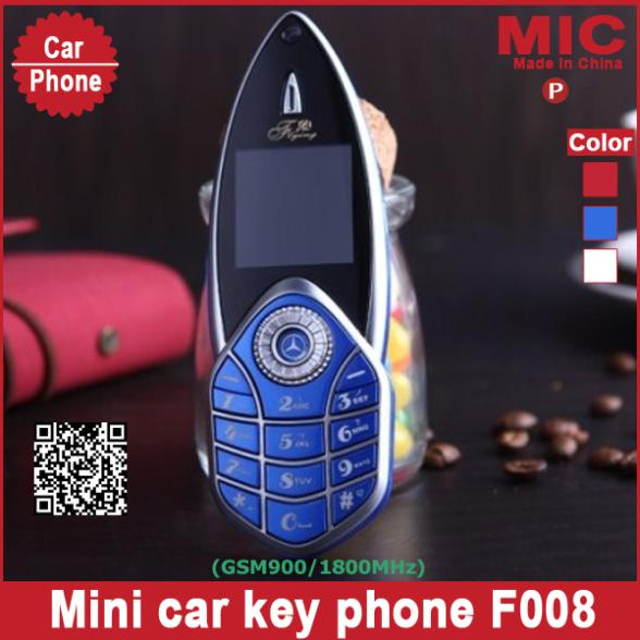 2013 unlock Russian keyboard bar luxury small size mini sport cool supercar car key cell mobile phone F008 cellphone P28(China (Mainland))