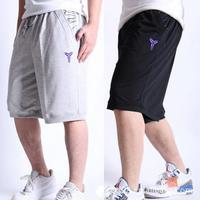 2014 Fashion Cotton Men Basketball Sport Shorts Plus Black/Light Grey Casual Short FREE SHIPPING