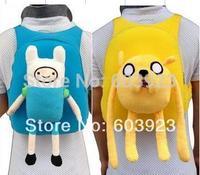 Adventure Time With Finn & Jake Cute Shoulder Bag School Children Bag 10''  plush backpack
