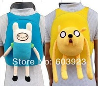 Adventure Time With Finn & Jake Cute Shoulder Bag School Children Bag 10''  plush backpack