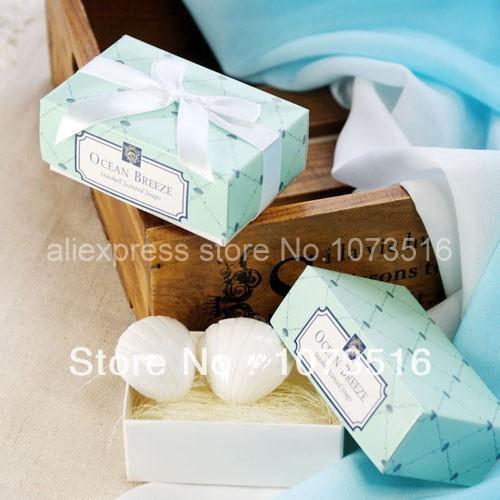 Fashion Wedding Accessary Gift Cute Sea Shell Style Mini Goap Shower Wedding Favors(China (Mainland))