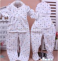 Baby 100% cotton set piece set children's clothing newborn children summer baby air conditioning service l98