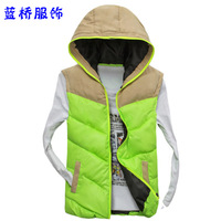 Autumn and winter male sleeveless cotton vest outerwear winter men's down cotton vest clothes