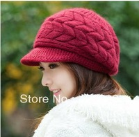 Winter hat women's autumn and winter rabbit fur hat thermal knitted hat knitted hat