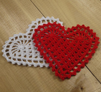 Heart-shaped Crocheting Doilies Placemats Shabby Chic Nostalgic Retro Look Sector -20PCS/LOT-- Physical picture 100%