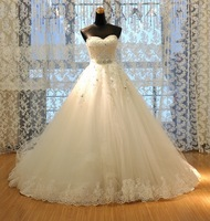 Princess Bride Tube Top Wedding Dress New Arrival 2014 Plus Size Wedding Gown