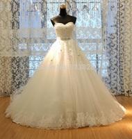 Vestido de noiva Princess Tube Top Beading Bride Wedding Dress 2014 Plus Size Wedding Gown Custom-made