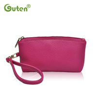 Women PU Leather Solid Candy Color Small Wallets Coin Purse Wrist Clutches Free Shipping 84639