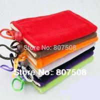 (100pcs/lot) Wholesale Soft Microfiber Sleeve Pouch Bag Case for 3.5 inch mobile phone 8.5*13.5cm