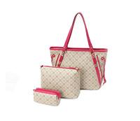 retro vintage leather women's handbag totes one shoulder mother bag total 3 leather bags 121601