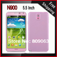 N900 5.5 Inch TFT Capacitive touch Screen SC6820 1.0GHz Android 4.2 Smartphone - Black/White/Pink